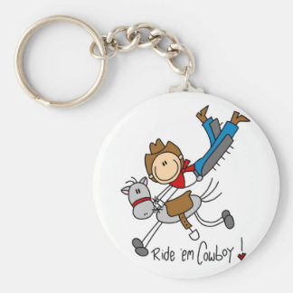 Cowboy Stick Figure Tshirts and Gifts Key Ring