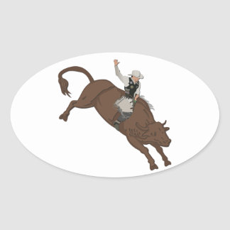 Cowboy Oval Sticker
