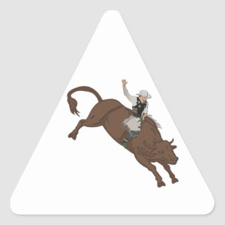 Cowboy Triangle Sticker