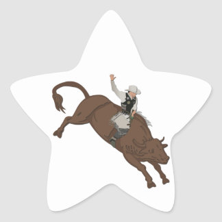 Cowboy Star Sticker