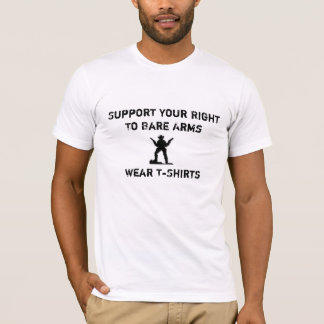 cowboy, Support Your Right To Bare Arms, Wear ... T-Shirt