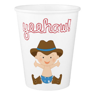 Cowboy Themed Party Cups- Birthday