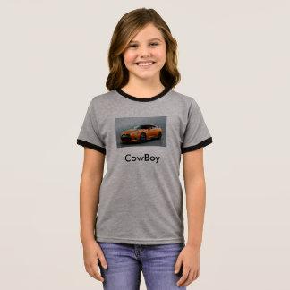 CowBoy Tube Kids Girls t-shrits Ringer T-Shirt