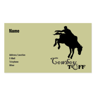 Cowboy Tuff Pack Of Standard Business Cards