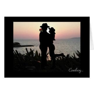 Cowboy Valentine Greeting Card