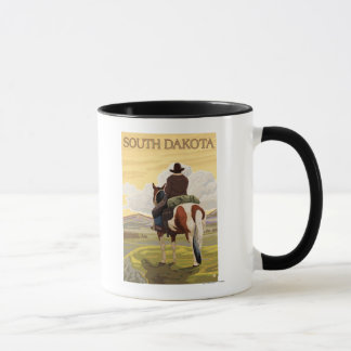 Cowboy (View from Back)South Dakota Mug
