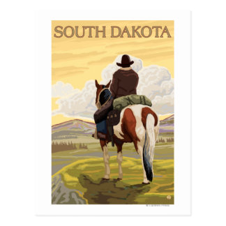 Cowboy (View from Back)South Dakota Postcard