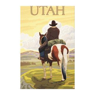 Cowboy (View from Back)Utah Canvas Print