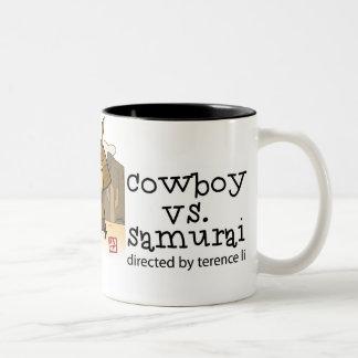 Cowboy vs Samurai mug