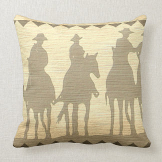 Cowboy Western roundup time southwest throw pillow