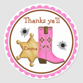 Cowboy  Wild West  Birthday  Stickers