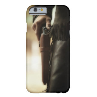 Cowboy with gun in holster barely there iPhone 6 case