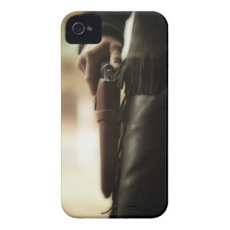 Cowboy with gun in holster iPhone 4 case