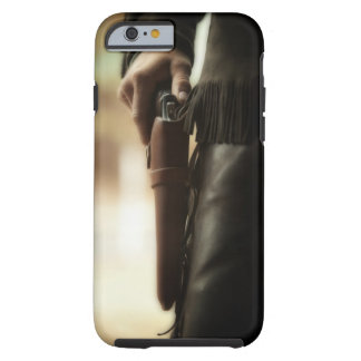 Cowboy with gun in holster tough iPhone 6 case