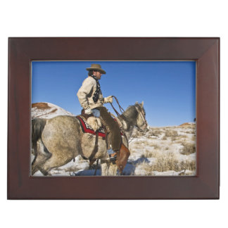 Cowboy with horses on the range on The Hideout Memory Boxes