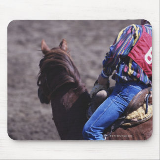 Cowboy with Identification Number Mouse Pad