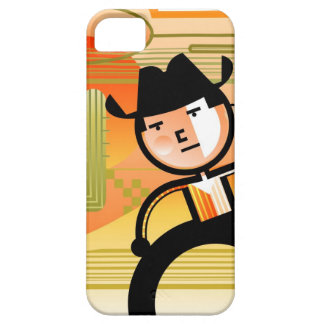 Cowboy with lasso and cactus iPhone 5 case