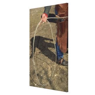 Cowboy with lasso canvas print