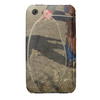 Cowboy with lasso iPhone 3 case