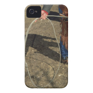 Cowboy with lasso iPhone 4 Case-Mate case