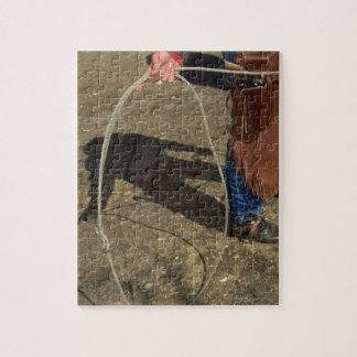 Cowboy with lasso jigsaw puzzle