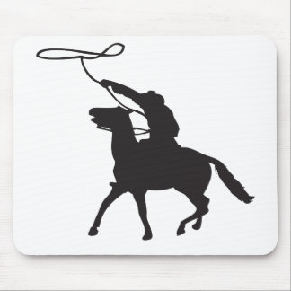 Cowboy with lasso mouse pad