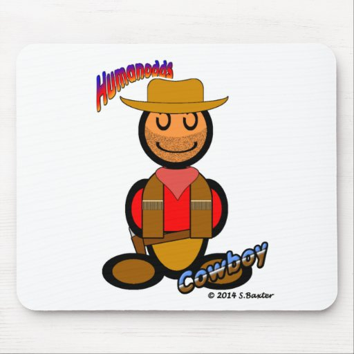 Cowboy (with logos) mouse pads