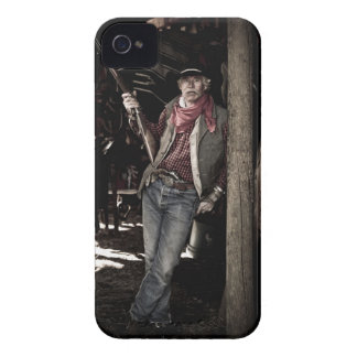 Cowboy with Pistol and Rifle Case-Mate iPhone 4 Case