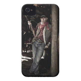 Cowboy with Pistol and Rifle iPhone 4 Covers