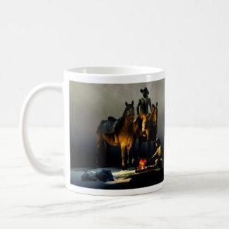 Cowboys and Horses Basic White Mug