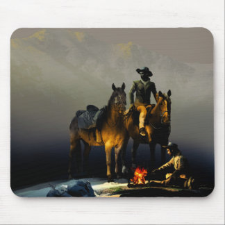 Cowboys and Horses Mouse Pad