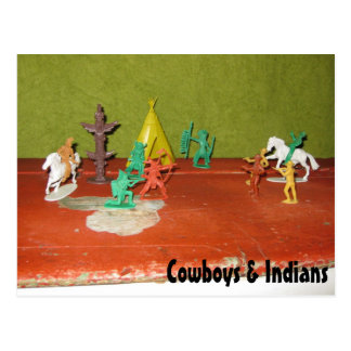 Cowboys and Indians Postcard