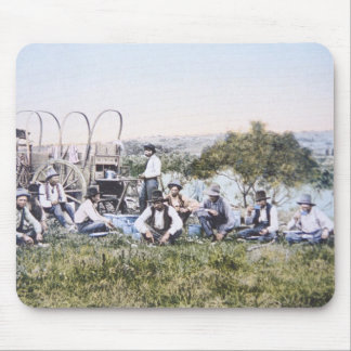 Cowboys at Lunch, 1904 (photo) Mouse Mat