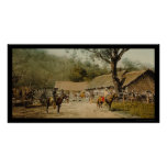 Cowboys at Mexican Hacienda 1890 Poster