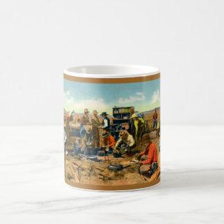 Cowboys at the Chuck Wagon Coffee Mugs