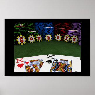 Cowboys - Big Slick Poker Poster