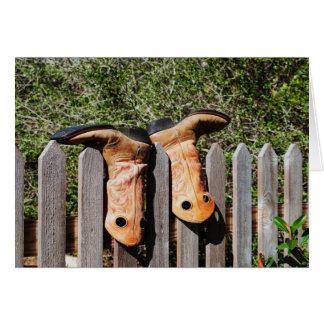 Cowboys Boots Greeting Card