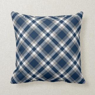 Cowboys Colors Plaid Pattern Throw Pillows