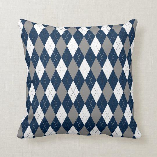Cowboys Colours Argyle Pattern Cushion
