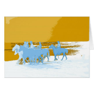 cowboys Gallop Into Life Greeting Card