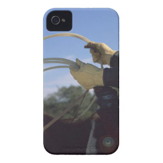 Cowboy's hands with lasso iPhone 4 case