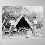 Cowboys in Camp, 1890 Print