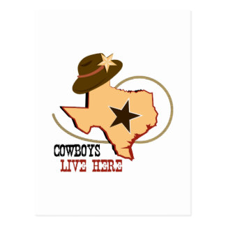 Cowboys Live Here Post Cards