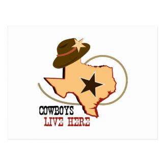 Cowboys Live Here Postcard