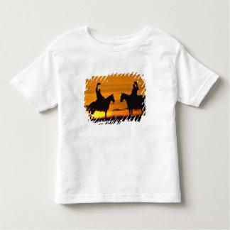 Cowboys on ridge at Sunset Toddler T-Shirt