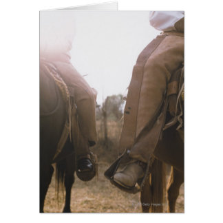 Cowboys Riding Horses Card