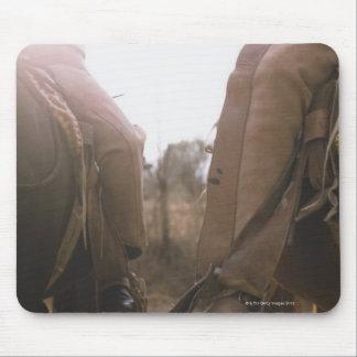Cowboys Riding Horses Mouse Mat