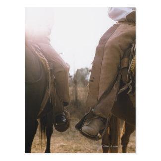 Cowboys Riding Horses Postcard