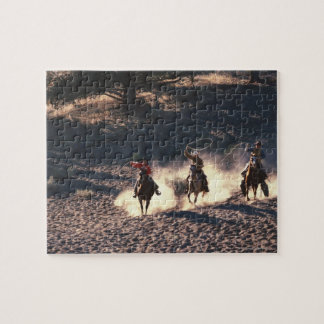 Cowboys riding jigsaw puzzle