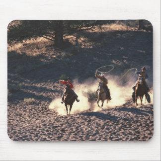 Cowboys riding mouse mat